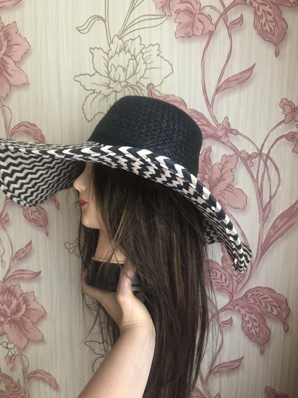 Натуральная шляпа с большими полями, пляжная шляпа