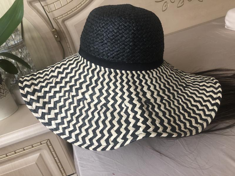 Натуральная шляпа с большими полями, пляжная шляпа - Фото 3