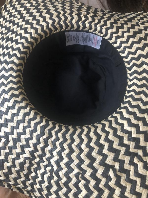 Натуральная шляпа с большими полями, пляжная шляпа - Фото 5