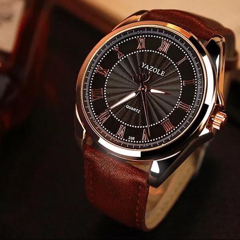 Мужские наручные модные недорогие классические часы часики год... - Фото 2