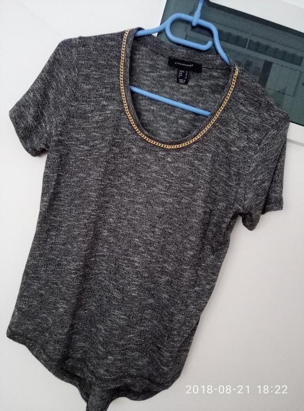 Красивая меланжевая блуза раз. s-m - Фото 4
