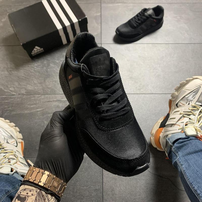 Adidas iniki full black - Фото 2