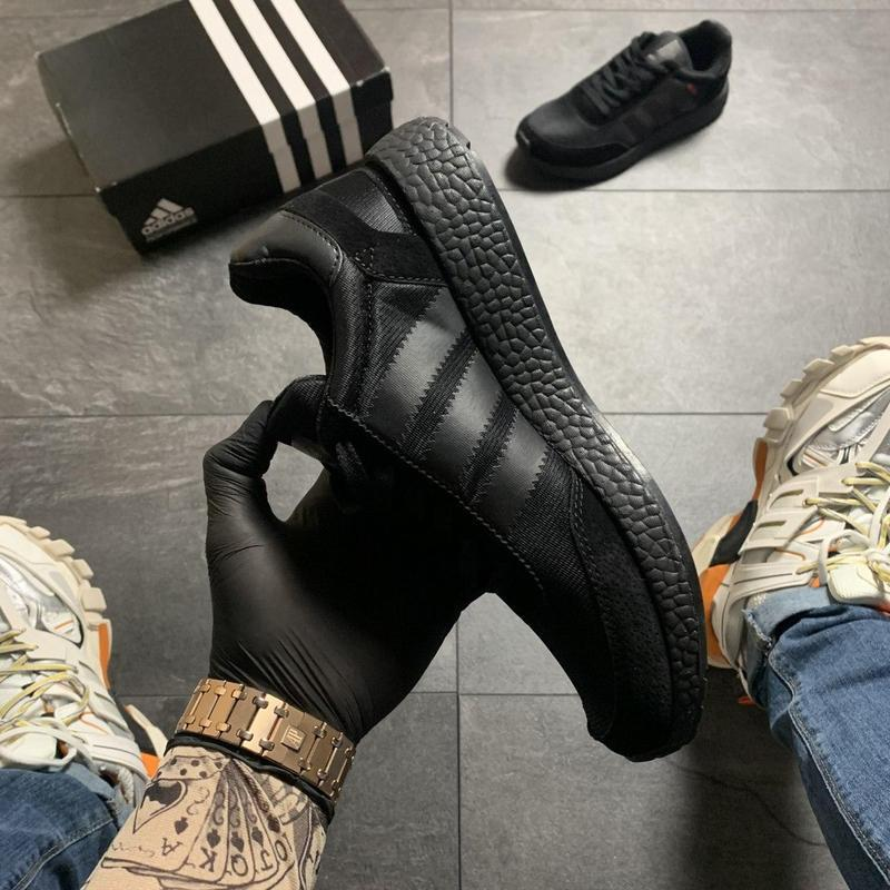 Adidas iniki full black - Фото 4