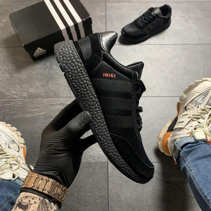 Adidas iniki full black - Фото 5