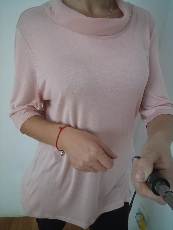 Красывый лёгкий свитерок в пудровом цвете раз. l-xl - Фото 4