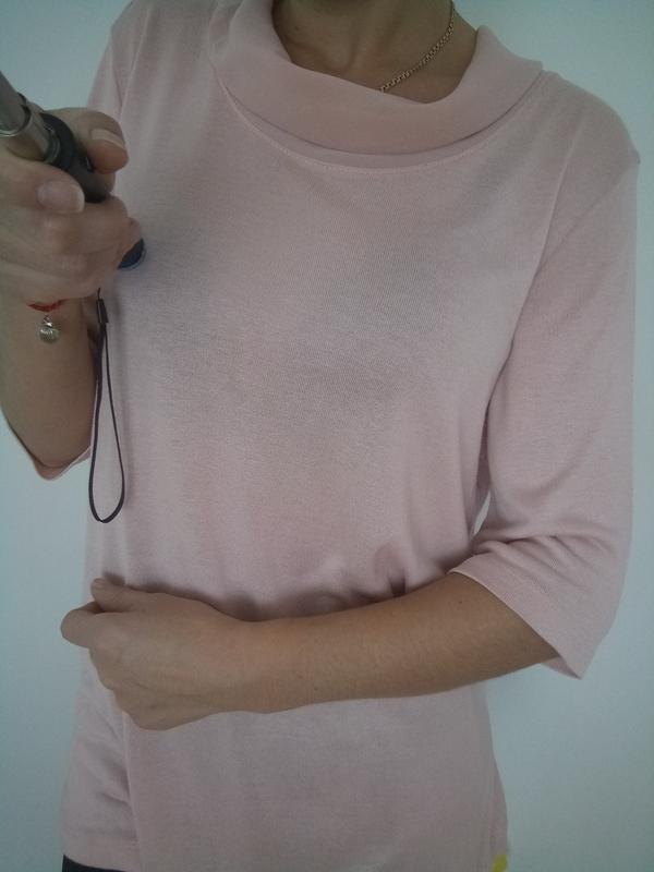 Красывый лёгкий свитерок в пудровом цвете раз. l-xl - Фото 5