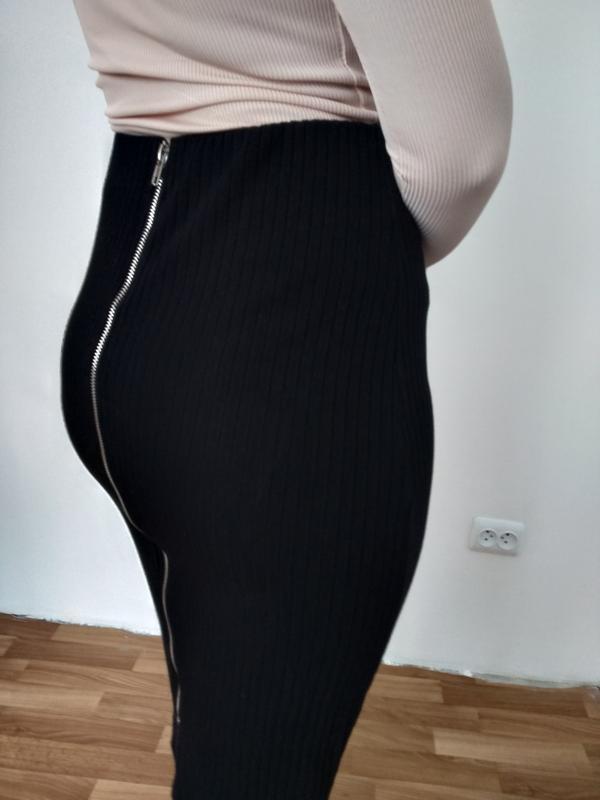 Шикарная юбка миди в рубчик раз.м