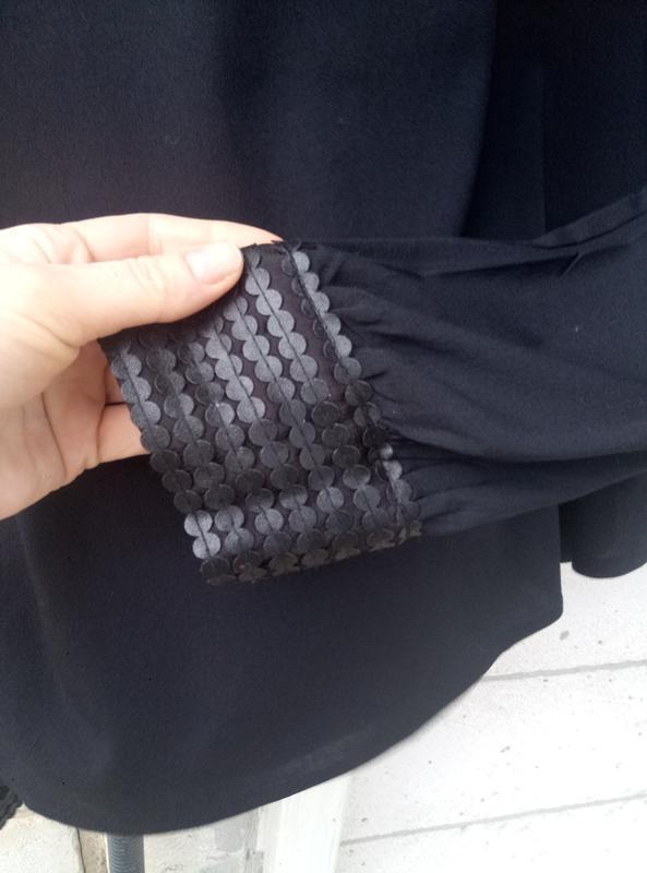 Вискозная блуза c кожаными вставками большого размера  раз.xl ... - Фото 3