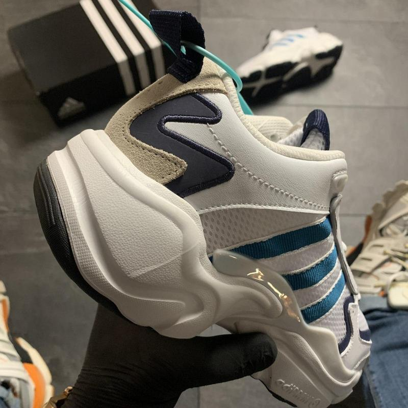 Adidas magmur runner white blue - Фото 5