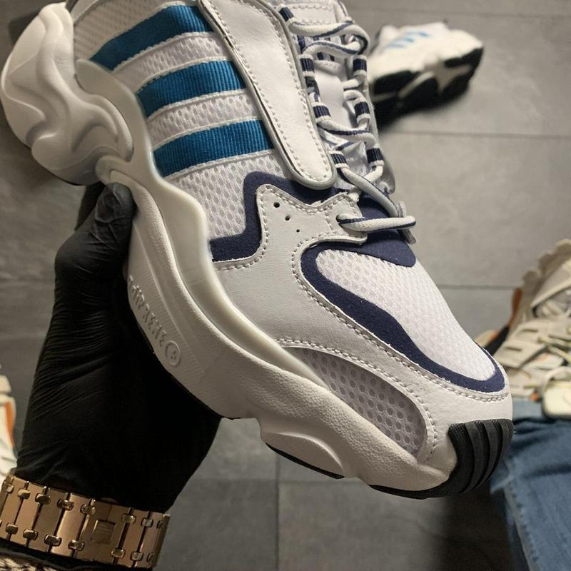 Adidas magmur runner white blue - Фото 7