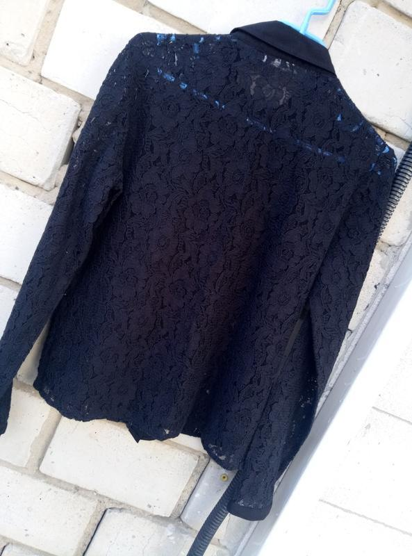 Стильная кружевная рубашка раз.м - Фото 3