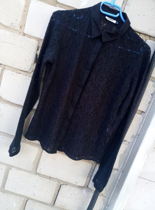 Стильная кружевная рубашка раз.м - Фото 5