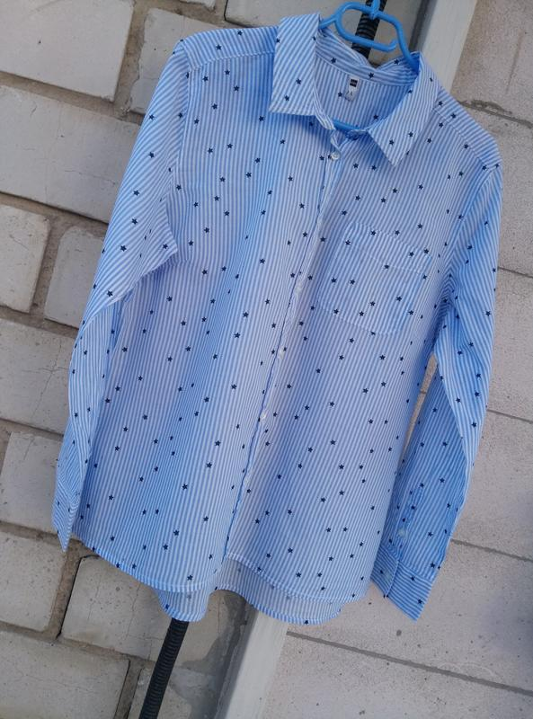 Стильная рубашка в полоску с  звездочками ✨раз. l