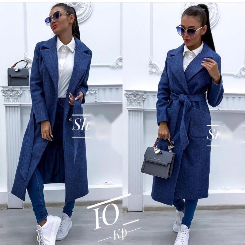 Женское кашемировое пальто норма и батал - Фото 2