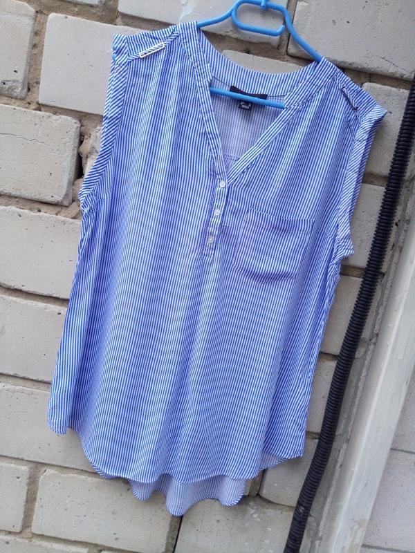 Крутая блуза в полоску раз. xxl-xxxl