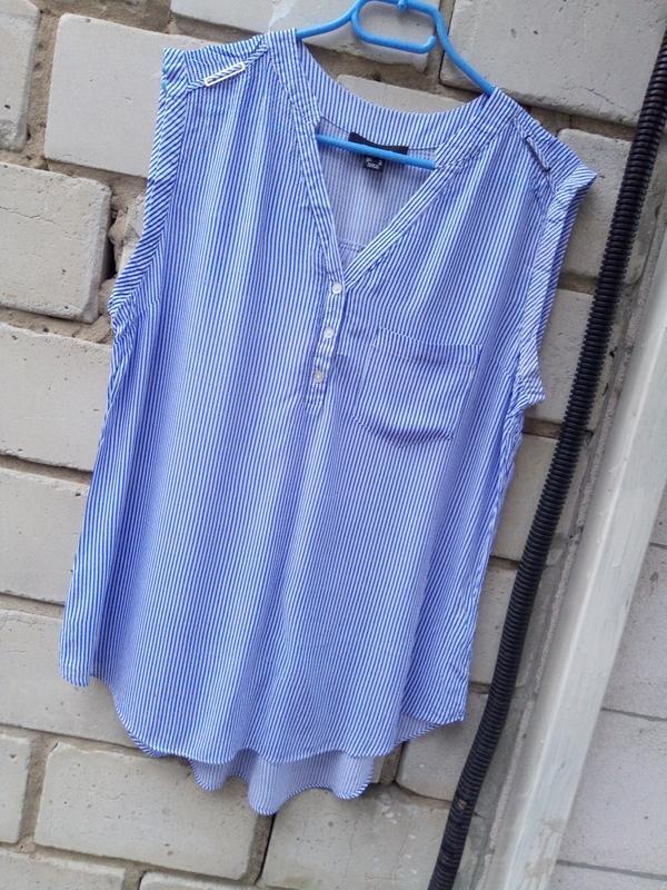 Крутая блуза в полоску раз. xxl-xxxl - Фото 3
