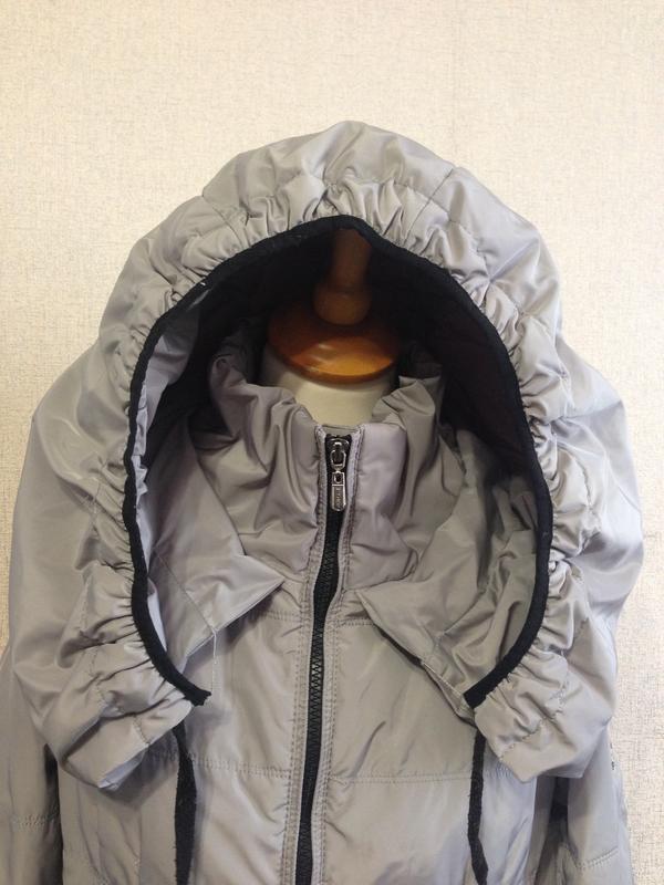 Куртка пуховик жен. moncler,р.s-m,капюшон-трансформер,оригинал - Фото 2