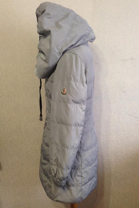 Куртка пуховик жен. moncler,р.s-m,капюшон-трансформер,оригинал - Фото 3