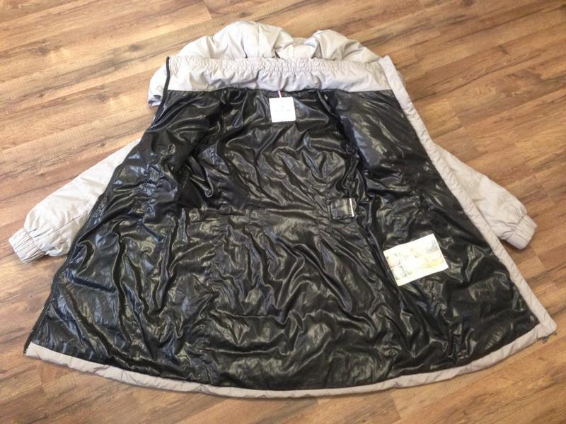 Куртка пуховик жен. moncler,р.s-m,капюшон-трансформер,оригинал - Фото 5