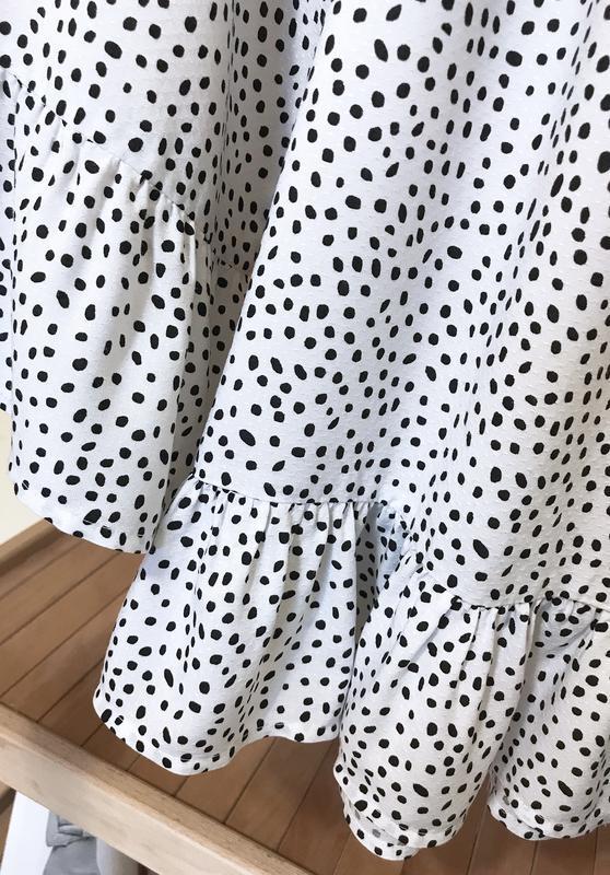 Блуза в горошек с воланами рюшами - Фото 5