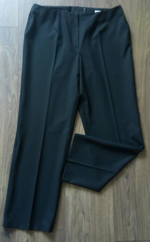 Актуальні фірмові чорні класичні брюки завишена талія укорочен... - Фото 2