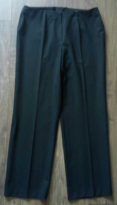 Актуальні фірмові чорні класичні брюки завишена талія укорочен... - Фото 3