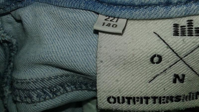 Фирменные джинсовые шортики на 8-10 лет. - Фото 3