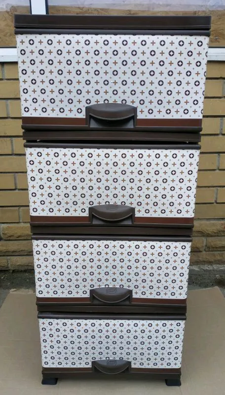 Комод пластиковый на 4 ящика - Фото 7