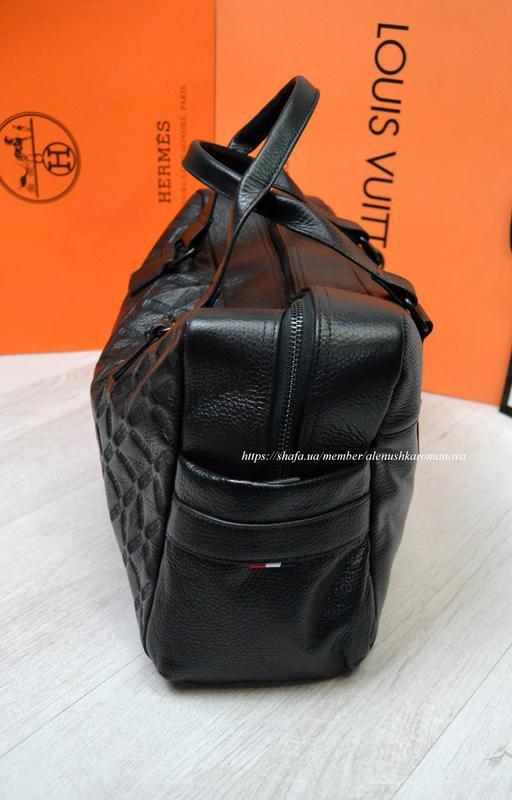 Брендовая дорожная сумка в ст версаче versache кожа - Фото 2