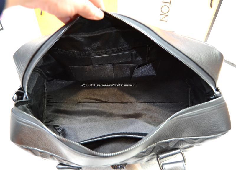 Брендовая дорожная сумка в ст версаче versache кожа - Фото 4