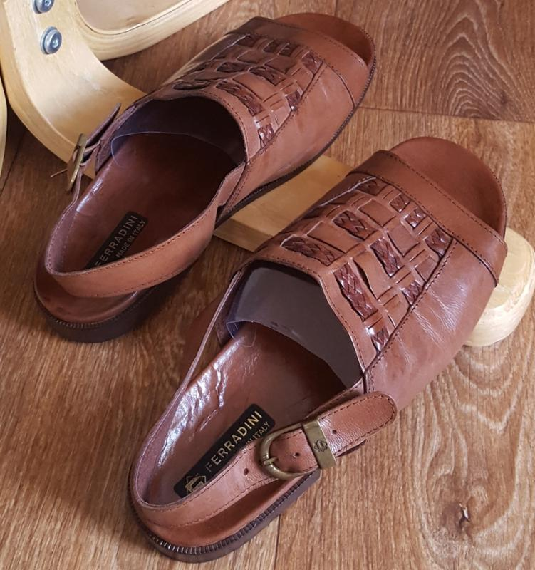 Кожаные сандалии ferradini original italiy - Фото 4