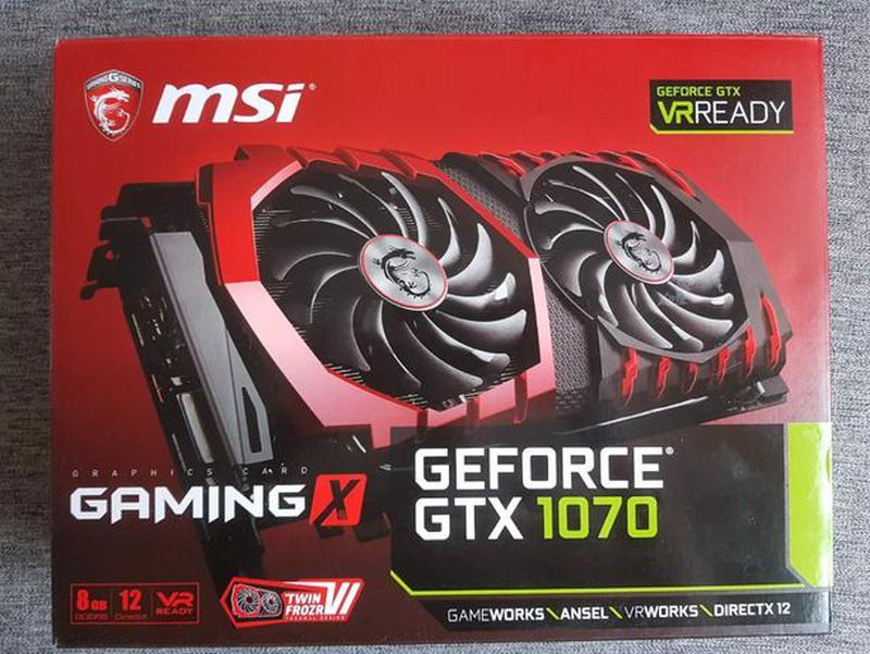Видеокарта MSI PCI-Ex GeForce GTX 1070 Gaming X 8GB GDDR5X (25... - Фото 4