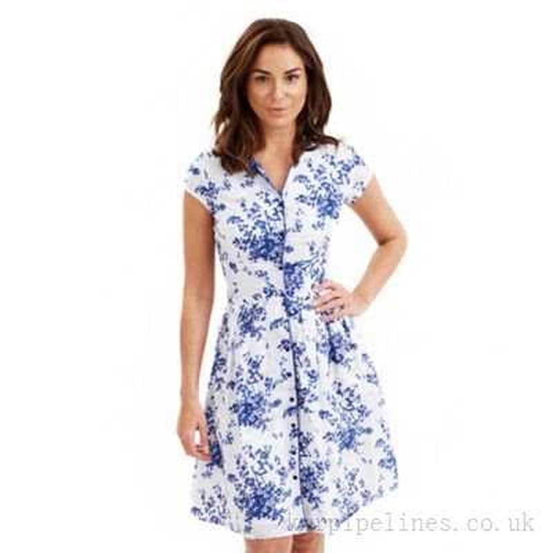 Очень красивое натуральное летнее платье большого размера - Фото 3