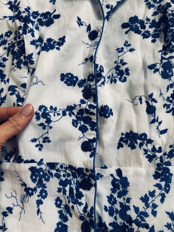 Очень красивое натуральное летнее платье большого размера - Фото 4