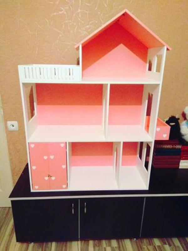 Дом для кукол барби Детская мебель Шкаф Кукольный домик - Фото 4