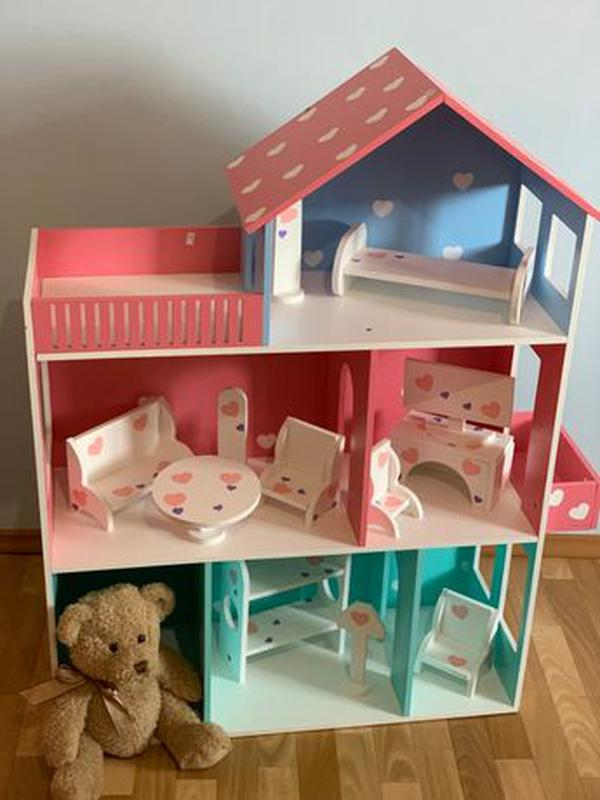 Детский развивающий кукольный домик Мебель в дом для кукол