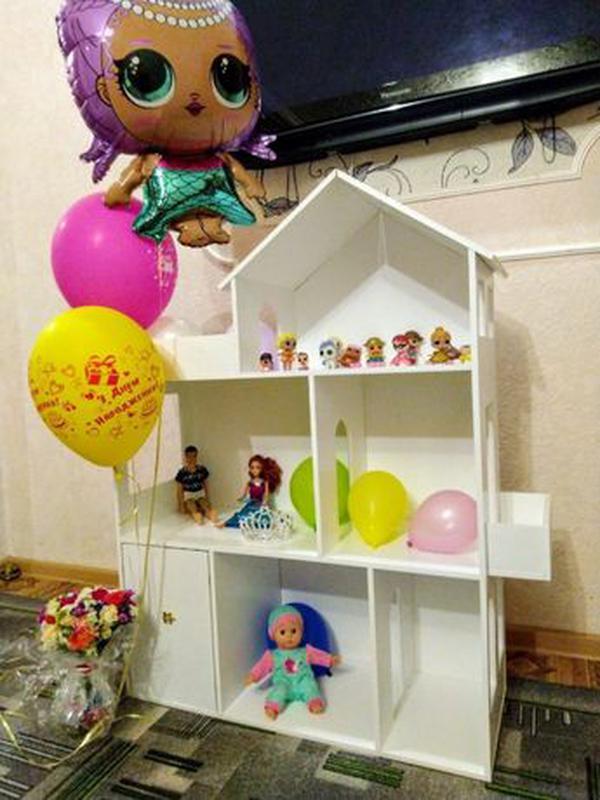 Детский развивающий кукольный домик Мебель в дом для кукол - Фото 2
