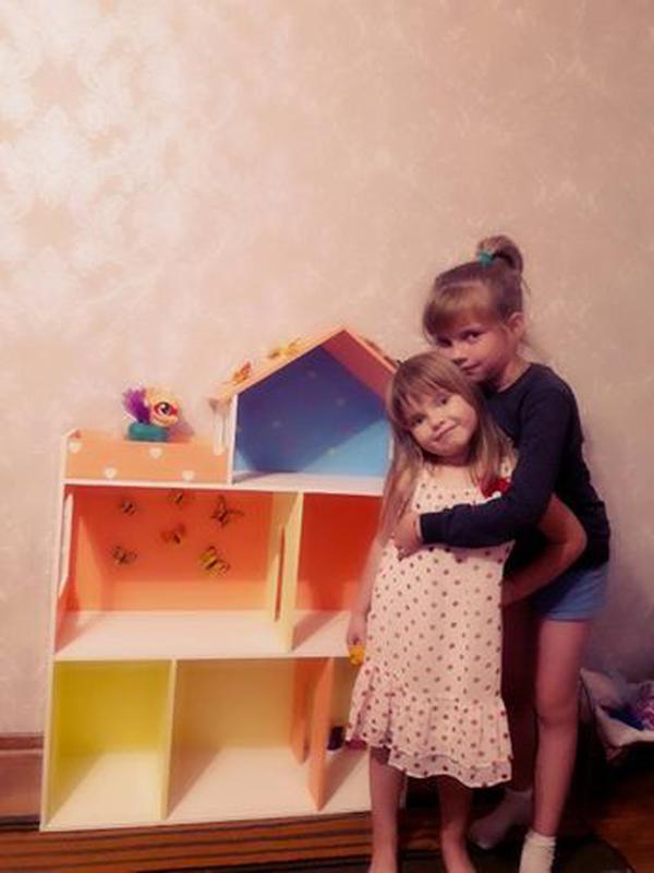 Детский развивающий кукольный домик Мебель в дом для кукол - Фото 4