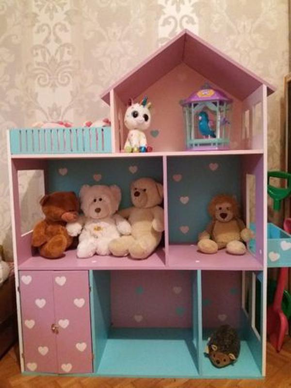 Детский развивающий кукольный домик Мебель в дом для кукол - Фото 7