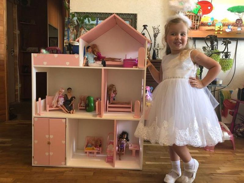 Детский развивающий кукольный домик Мебель в дом для кукол - Фото 8