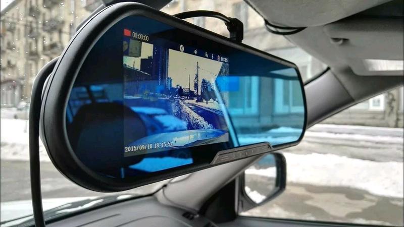 Видеорегистратор зеркало + камера заднего вида - Фото 3