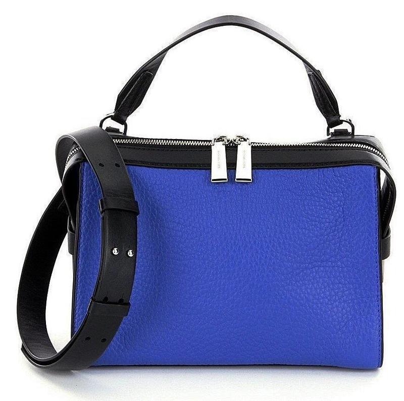 Michael kors ingrid сумка кожаная синяя черная оригинал сша м