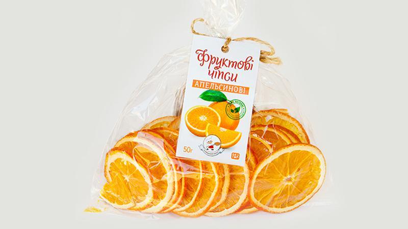 Фруктові чіпси апельсин
