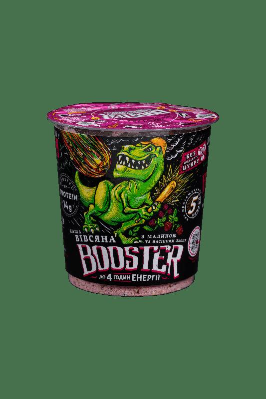Каша овсяная быстрого приготовления с малиной и протеином Booster