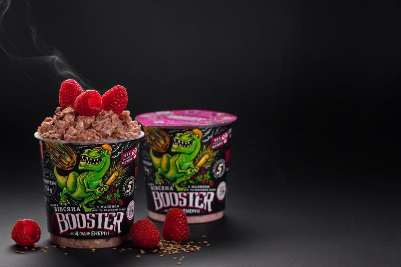 Каша овсяная быстрого приготовления с малиной и протеином Booster - Фото 4