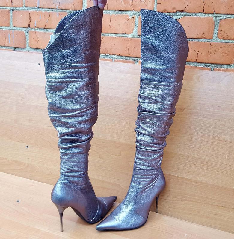Женские шикарные осенние ботфорды на каблуке фирмы beratroni к... - Фото 2