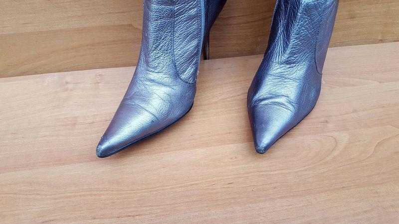 Женские шикарные осенние ботфорды на каблуке фирмы beratroni к... - Фото 4