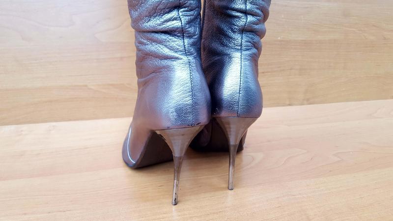 Женские шикарные осенние ботфорды на каблуке фирмы beratroni к... - Фото 5