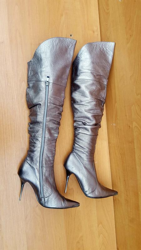 Женские шикарные осенние ботфорды на каблуке фирмы beratroni к... - Фото 7