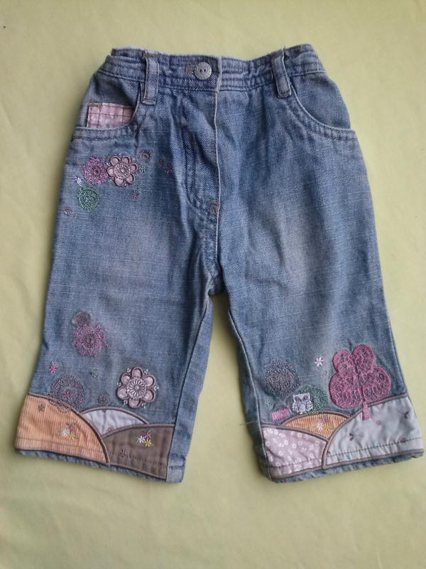 Весёлые джинсы с вышивкой